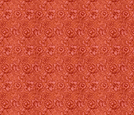 Morris Pittsford Red fabric by amyvail on Spoonflower - custom fabric