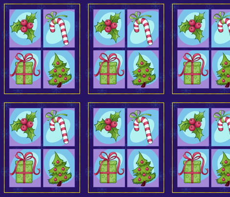 set of colorful Christmas images fabric by nadiiaz on Spoonflower - custom fabric