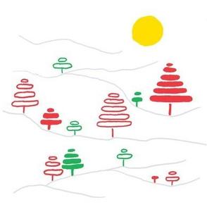 Holiday Tree Slopes - Large