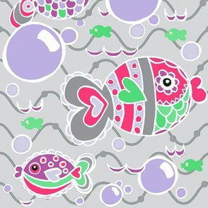 Swish Tail Fish /grey