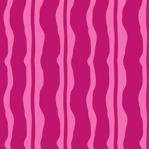 Burgundy over Pink Stripe