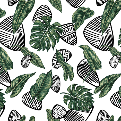 Tropical  & Graphic Elements fabric by volga_ilyina on Spoonflower - custom fabric