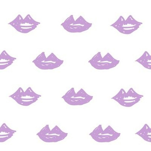 lips // valentines day fabric cute love themes pattern red lipstick purple