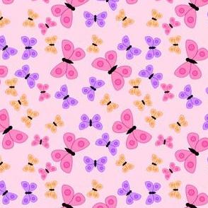 Bold butterlies pink