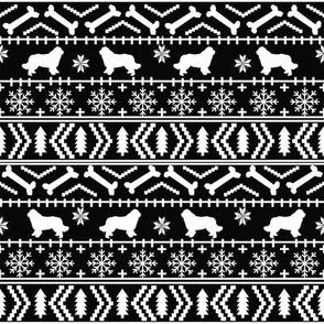 Newfoundland fair isle christmas sweater fabric dog breed lover black