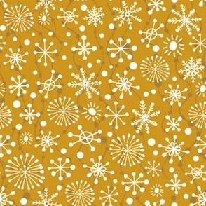 Festive Snowflakes - Gold