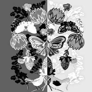 Black and White Botanical