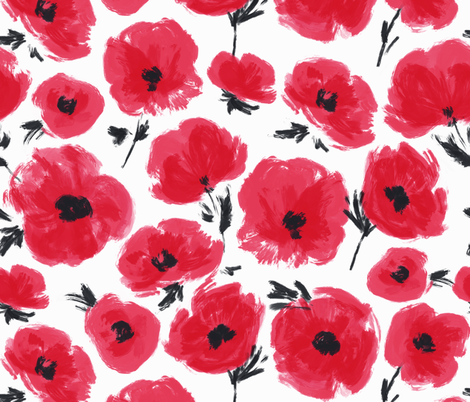 poppies-heather fabric by maydesigns on Spoonflower - custom fabric