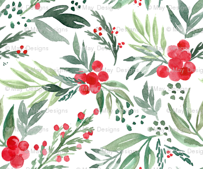 watercolor-holly-berry
