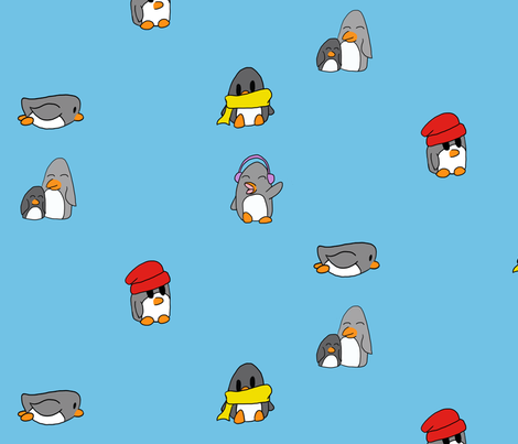 Penguins fabric by kay8282 on Spoonflower - custom fabric