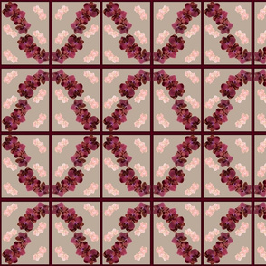 Orchid Design Tea Towel