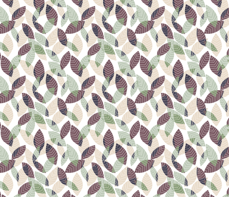 It's a Jungle Out There - Cretaceous fabric by abbyhersey on Spoonflower - custom fabric