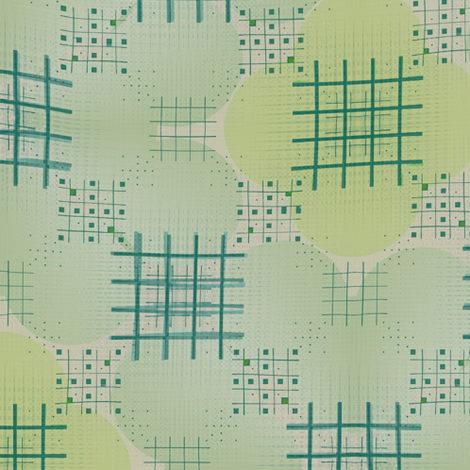 Criss Cross Kyoto (Celadon) fabric by david_kent_collections on Spoonflower - custom fabric