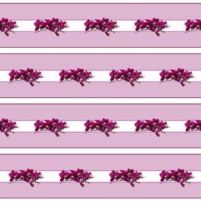 Purple Pink Orchids Tea Towel