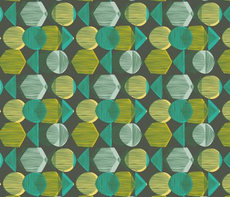 Striped Geometry 1 Dark Green fabric by mareikeböhmer on Spoonflower - custom fabric