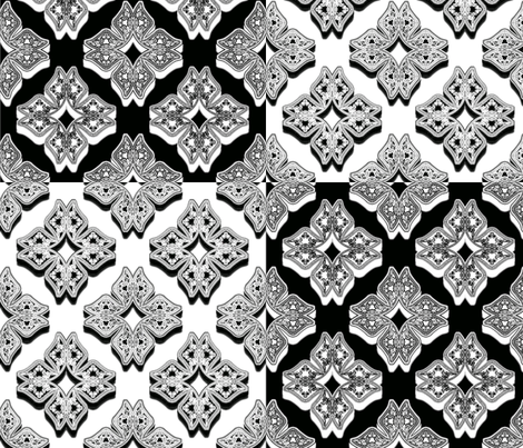 3D Fractal, Positive & Negative fabric by anneostroff on Spoonflower - custom fabric