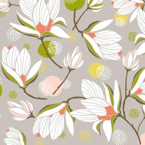 Magnolia Blossom Floral Stone Wallpaper Heatherdutton