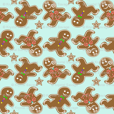 Ditzy Ice Skating Gingerbread cookies