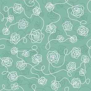 Line roses_Green