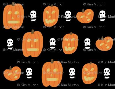 pumpkin skull pattern