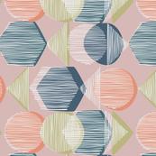 Striped Geometry 1 rose