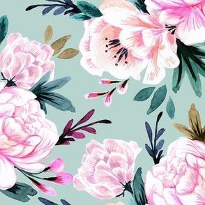 lush floral-turq