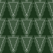 Graphic Christmas Trees_Green