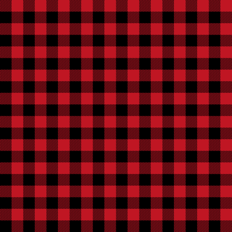 "buffalo plaid - red and black 3/8""  fabric by charlottewinter on Spoonflower - custom fabric"