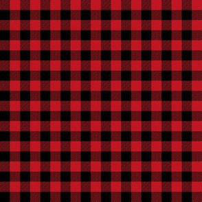 buffalo plaid - red and black 3/8""