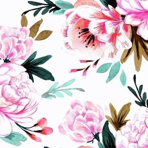 lush floral white