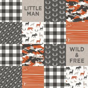 Wild & Free/ Little Man - camo - woodland patchwork - C1