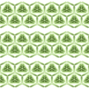 kaleidoscope stripe ~ small green