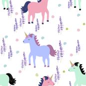 Unicorn Floral Polka Dot