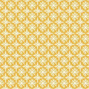 Snowflakes in yellow