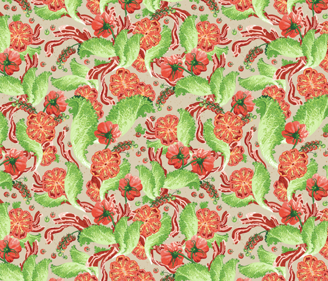 BLT Bouquet Half-Size fabric by hootenannit on Spoonflower - custom fabric