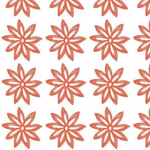 Sketched Bloom Orange