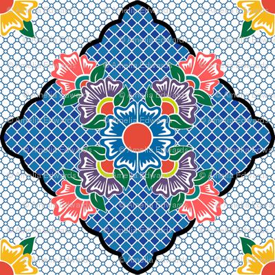 Flower Line Multi Continuous