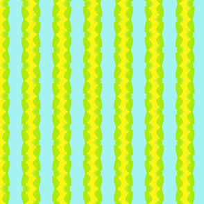 yellow turquoise green stripe