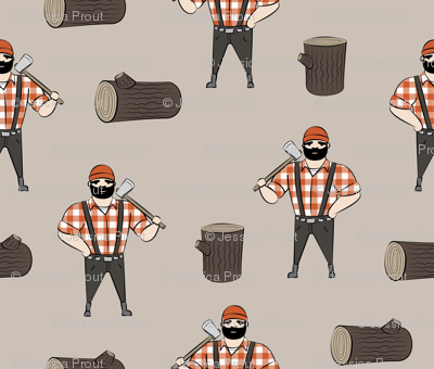 Lumberjacks - burnt orange