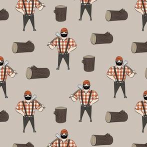 Lumberjacks - burnt orange