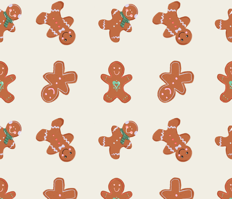 Gingerbread Men fabric by allhaildesign on Spoonflower - custom fabric