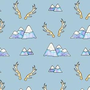 Mountains -n- Antlers in Blue Glacier