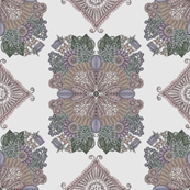 Fantasy Garden in smokey purple and taupe