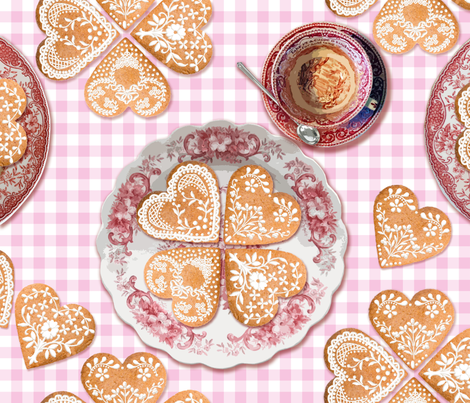 Lebkuchen fabric by lilyoake on Spoonflower - custom fabric