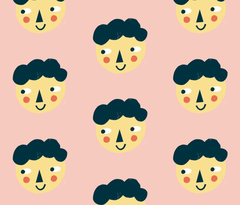 Smiling guy fabric by anda on Spoonflower - custom fabric