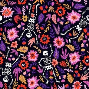 Skeletons in flowers