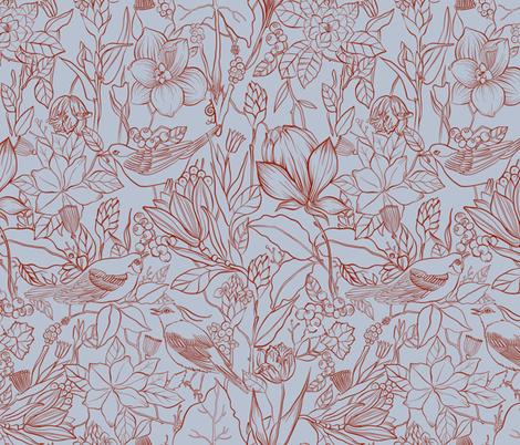 blue tweet fabric by torysevas on Spoonflower - custom fabric