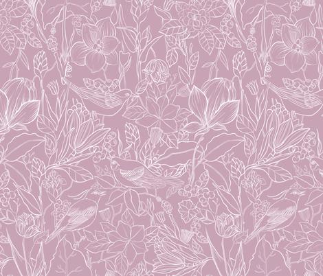 pink tweet fabric by torysevas on Spoonflower - custom fabric