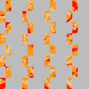 playful orange lines on rectangles