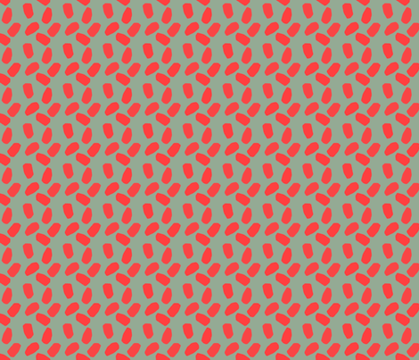 red on greenish gray fabric by variable on Spoonflower - custom fabric